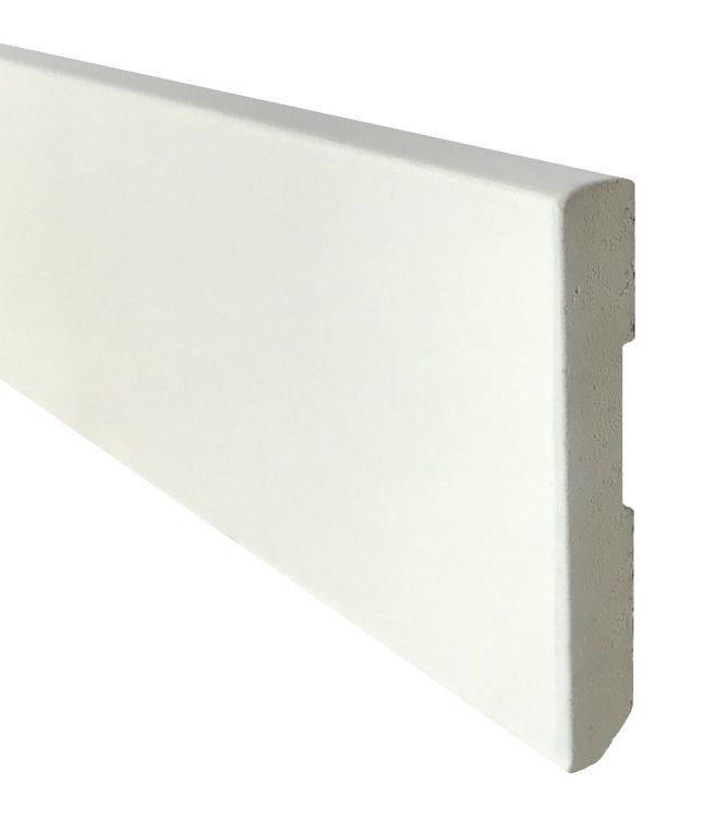Zócalo Rodapié PVC blanco lacado antihumedad 8cm