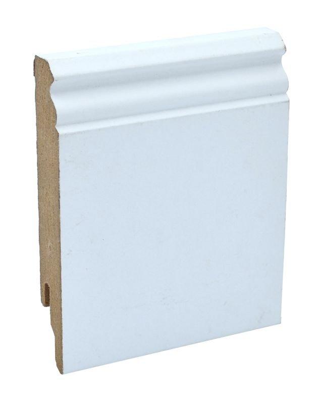 Zócalo Rodapié blanco moldurado 12cm