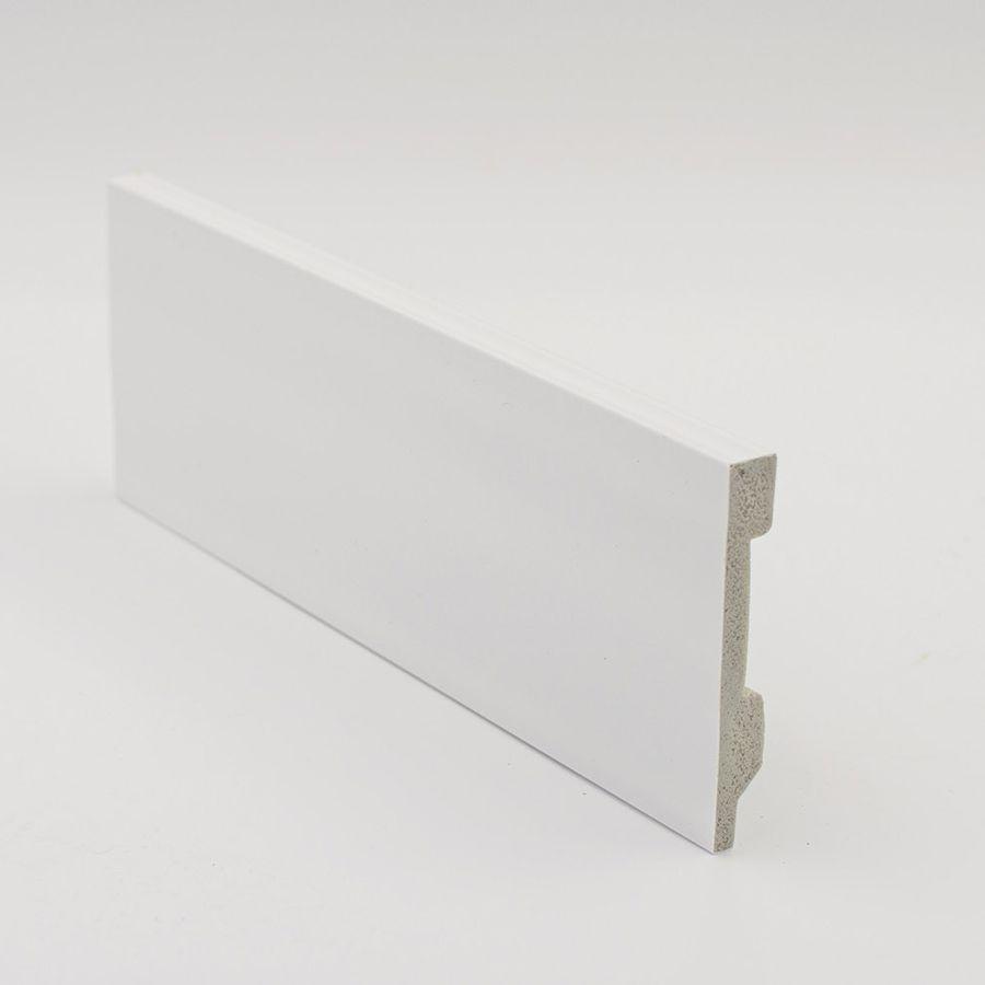 Zócalo Rodapié de PVC hidrófugo blanco 10cm