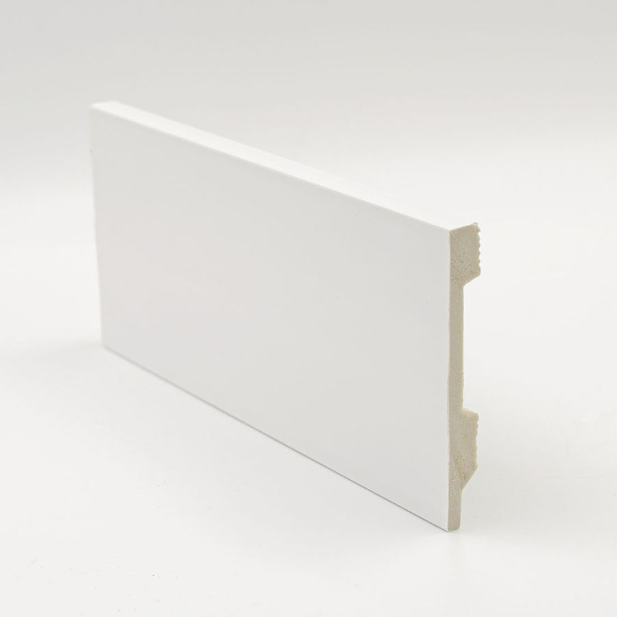 Zócalo Rodapié de PVC hidrófugo blanco 12cm