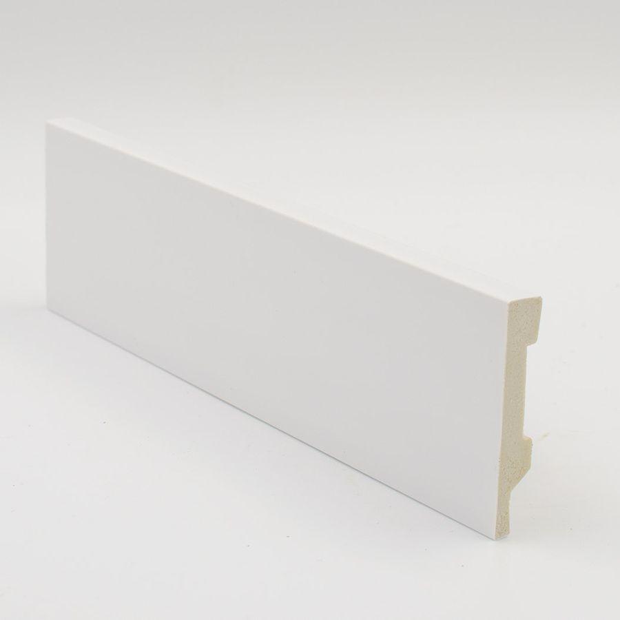 Zócalo Rodapié de PVC hidrófugo blanco 8cm