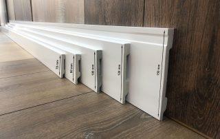 Zócalo Rodapié PVC blanco lacado antihumedad 10cm